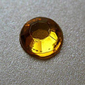 100 St. Selbstklebende Schmucksteine - Runde 6 mm (gold) id61 new