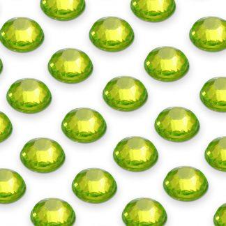 176 St. Selbstklebende Schmucksteine - Runde 4 mm (grün) id77 new