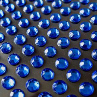 176 St. Selbstklebende Schmucksteine - Runde 3 mm (blau) id200 new