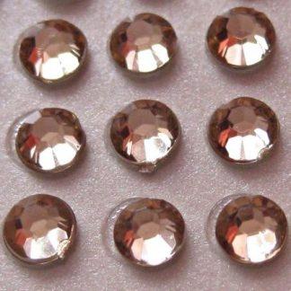 100 St. Selbstklebende Schmucksteine - Runde 5 mm (ecru) id458 new