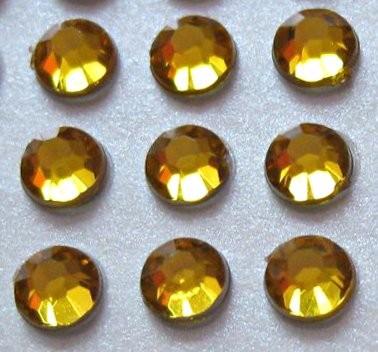 176 St. Selbstklebende Schmucksteine - Runde 3 mm (gold) id43 new