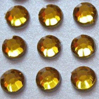 176 St. Selbstklebende Schmucksteine - Runde 4 mm (gold) id48 new