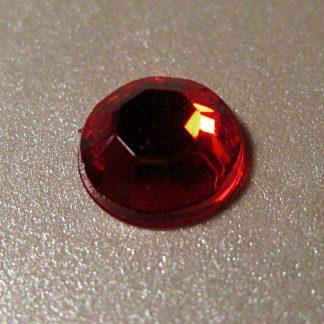 100 St. Selbstklebende Schmucksteine - Runde 6 mm (rot) id60 new